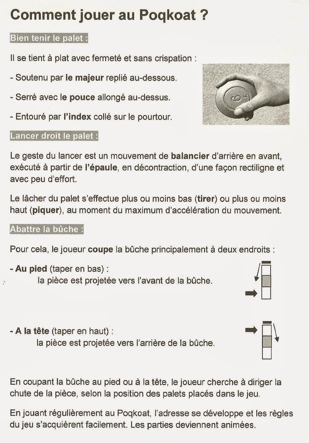 le jeu de palets de tradition bretonne le poqkoat. Black Bedroom Furniture Sets. Home Design Ideas
